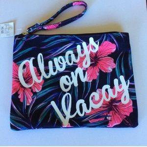 Handbags - NWT Always on Vacay wristlet makeup bag